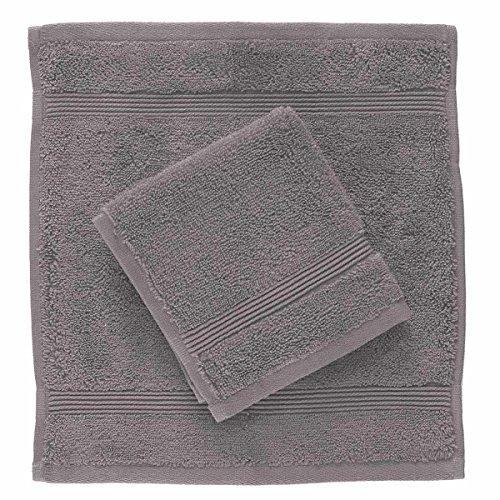 Set 2 lavette zucchi solotuo in spugna di puro cotone 30x30 cm n161 mauve
