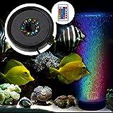 BAYTTER Aquarium LED Beleuchtung Stumm Luftblase Licht RGB Aufsetzleuchte Farbwechsel mit Fernbedienung IP68 Automatisch mit Luftpumpe für Fisch Tank Aquarien