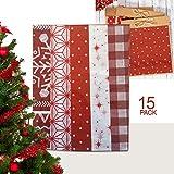 Shooting Star Products Weihnachten Seidenpapier 15Stück–Traditional Christmas Muster