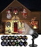 SMITHROAD LED Projektionslampe 14 Verschiedene Lichteffekt Strahler mit Timer für Halloween Weihnachten Karneval Innen Außen Garten Wand Beleuchtung IP65,2. Generation
