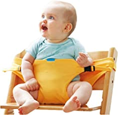 MosQuick® Portable Baby Travel High Chair Booster Safety Seat Strap Harness Belt for Baby Feeding (Yellow)