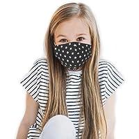 Set di 3 Maschere a 2 strati per Bambini a 6-11 Anni, 100% Cotone, Lavabili e Riutilizzabili, Handmade