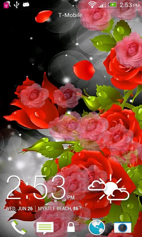 Red Rose Party Live Wallpaper Amazoncouk Appstore For Android