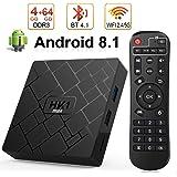 Android 8.1 TV BOX, Android Box 4 GB RAM 64 GB ROM, Livebox HK1 Quad Core 64 bit Smart TV BOX, Wi-Fi-Dual 5G/2.4G, BT 4.1, Box TV UHD 4K TV, USB 3.0