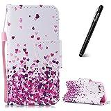 Slynmax Coque iPhone 5S Amour Rose Peint Mode PU Cuir Étui iPhone 5/5S/SE Housse de...