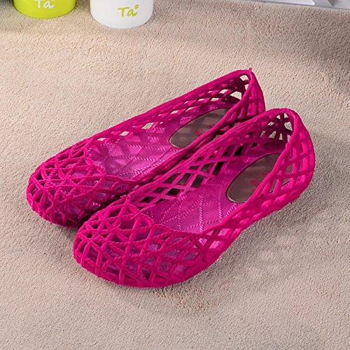 Xing Lin Beach Flip Flop Onorevoli Pantofole Estate Pendenza Con Pantofole Antiscivolo In Plastica Spessa Maglia Infermieri Scarpe Scarpe Joker Piatta Pink