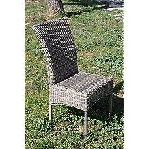 lot de 2 chaises en rsine tresse - Chaise En Resine Tressee