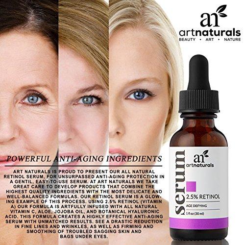 ArtNaturals Retinol Serum mit Vitamin C und Hyaluronsäure – Naturrein – 30 ml - 5