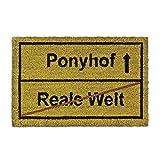 Relaxdays Fußmatte Kokos Motiv PONYHOF 40 x 60 cm Kokosmatte mit rutschfester...