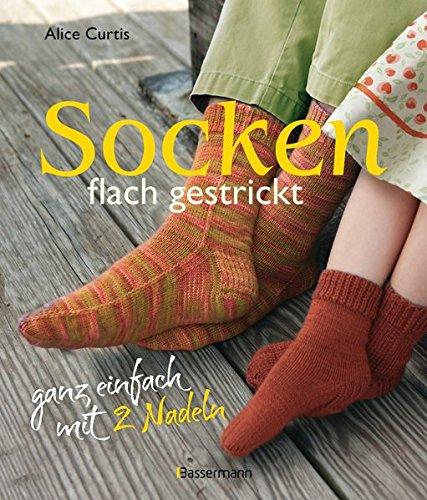 Socken flach gestrickt: ganz einfach mit 2 Nadeln -