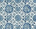 A.S. Création Tapete Faro 4, Mustertapete in Fliesenoptik, blau, weiß, 962471