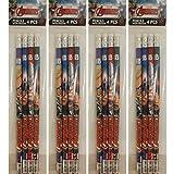Marvel 16 Teiliges Set Avengers 4 Packungen Bleistift mit Radiergummi Mitgebsel