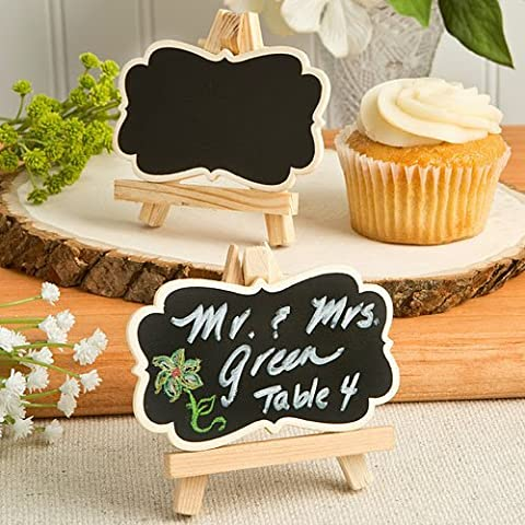 75 Natural Wood Easel And Blackboard Placecard Holder by Fashioncraft