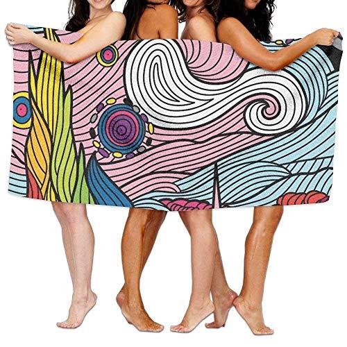 haiyi-ltd da spiaggia asciugamani in microfibra viaggio sport transgender lgbt bandiera morbido telo doccia da bagno piscina spiaggia asciugamano 78,7x 129,5cm