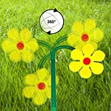 Tanzende Blume - Verrückte Blume - Spaßdusche - Wasserspaß - Wasserspiele - Wasserspielzeug - Wassersprenger - Sprinkler - Regner - Garten (1x Blume)