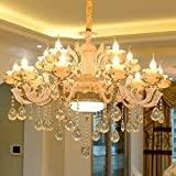 Daadi Das Restaurant Schlafzimmer antike Kronleuchter decke Zinklegierung jade Kristallleuchter, warmes Licht, einzelne Wand Lampe [Energieklasse A ++]