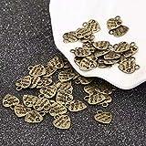 50 x MADE WITH LOVE argent tibétain Breloques Pendentifs Coeur-Valentine s Day argent Antique perlage Apprêt création bijoux
