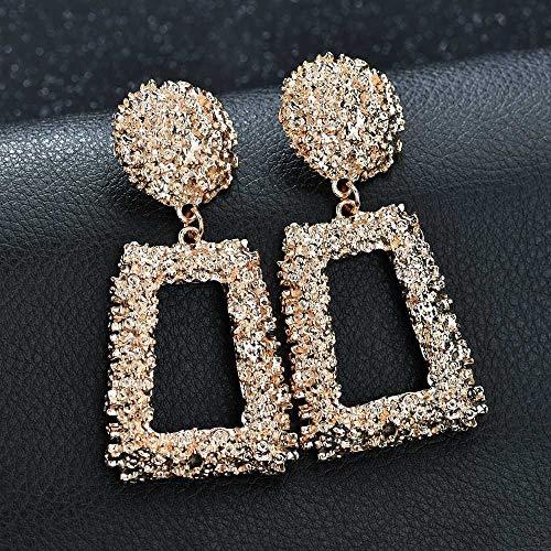 n Schwermetall Ohrringe Geometrische Geprägte Floral Ohrstecker Retro Mode Ohrringe Party Zubehör ()