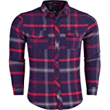 Crosshatch Mens Long Sleeve Check Lumberjack Brushed Cotton Flannel Thick Cotton Shirt.