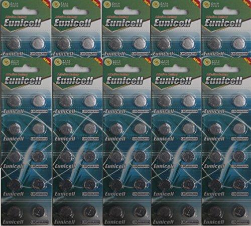 100 x AG10 LR54 LR1130 L1131 SR1130W 389 G10 hochwertige Tasten Batterien