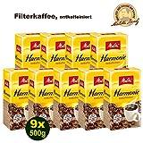 Melitta HARMONIE entkoffeiniert Filterkaffee 9 x 500g (4500g) - Melitta Café gemahlen