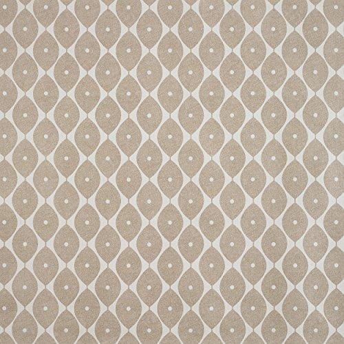 Taupe Geometrische Ovale PVC Vinyl Wachstuch abwischbare Tischdecke rund quadratisch oder rechteckig Rectangle 140 x 200cm (55