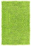 Lashuma Badewannenmatte Chenille grün - Pistazie | saugstarker Badvorleger | Matte für Bad | 50 x 80 cm
