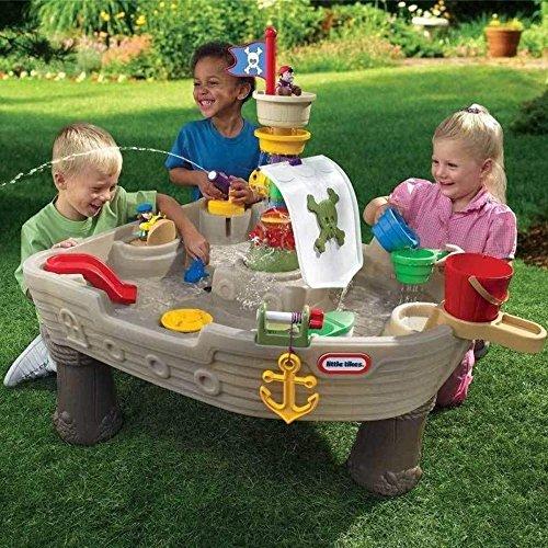 Little Tikes 628566E3 Mesa de juego de agua: Barco pirata