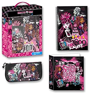 Monster High Set regalo Carpeta, cuaderno y estuche