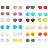 KAYIMGIRE Donna Occhiali da Sole, Vintage UV400 Anti-UV Polarizzati Lente Oversize Telaio Retro Bicchieri per Gli Sport di Pe