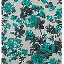 """Tela impresa floral blanca 56 """"pulgadas de ancho Tejidos de tapicería Duck Poly By The Metro"""