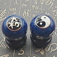 QTZS Chinesische Traditionelle Fitness-Ball Dekompression Handball Blau Tai Chi Klatsch 50mm450g preisvergleich bei billige-tabletten.eu