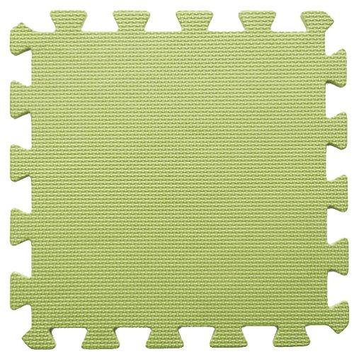 ZZYY Weiche EVA-Schaummatten Baby Kinder Spielmatte Reine Farbe Puzzlespiel Matten Bodenpuzzle Jigsaw Mat (16tlg, Gras-Grün) (Grünes Gras Mat)