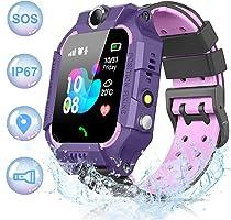 NAIXUES 2019 Smartwatch Niños, Reloj Inteligente para Niños IP67 Impermeable con Linterna, SOS, LBS, Comunicación...