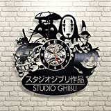2018 New CD Vinyl Record Wall Clock Modern Spirited Away Studio Ghibli Anime