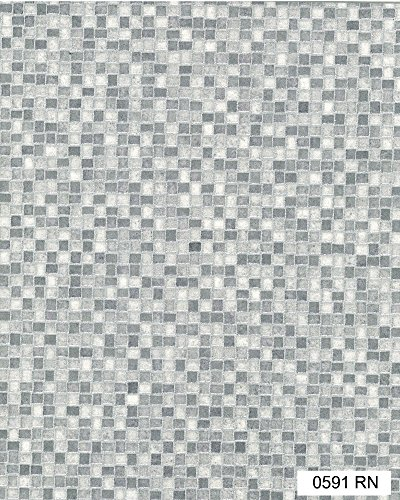 0591 ST-Rock Nemo Mosaic effect Anti Slip Vinyl Flooring Home Office Kitchen Bedroom Bathroom High Quality Lino Modern Design 2M 3M 4M wide (2x1)