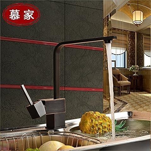 Nero Bronzo rubinetti cucina lavello cucina rubinetto calde e fredde Absatz b