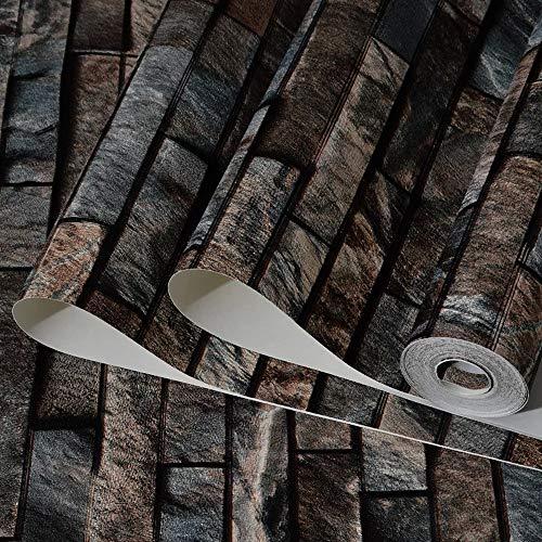 wallpaper Kulturelle Steintapete Antike chinesische Art Ziegelsteintapete Tapete Wasserdichte Wohnzimmer speichern Hintergrundtapete blauen Ziegelstein (Color : C) -