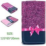 Uming® Rétro motif coloré Imprimer de cas PU Case [ pour LG E610 Optimus L5 ] Colorful Pattern Retournez Holster avec support Titulaire Stand Holder coque de protection mobile étui de téléphone cellulaire Housse Cover - Pink leopard