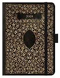 Premium Timer Big Antik - Schwarz 2019: Hochwertiger Buchkalender. Terminplaner mit Wochenkalendarium, Gummiband und Stifthalter. 12 x 17 cm