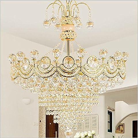 CAC Lampada led consegna lampadario di cristallo creative l camera da letto camera da pranzo leggero colore oro round illuminazione per interni E14