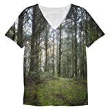 Snoogg Multiple Branched Tree Mens Casual V Neck All Over Printed T Shirts Tees Amazon