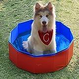 Pidsen Planschbecken für Tiere, faltbar, PVC, tragbar, für Hunde und Katzen, einfach zu reinigen