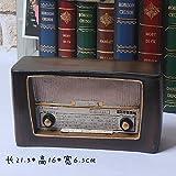 SQBJ Un único envío gratis Home Furnishing resina artesanía antigüedades trompeta antigua cámara fotográfica del ventilador props país americano,la antigua radio