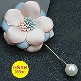 La vita moderna tessuti tessuti perla femmina spilla foulard di seta cappotto Tie Pin Out della maglietta maglione accessori moda di temperamento, fiori a due colori coreani oro rosa Pin