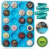 Mini muffin pan 24tazze, biscotti cupcake Bakeware sapone vassoio di latta stampo in silicone antiaderente, senza BPA, lavabile in lavastoviglie. By Xutong