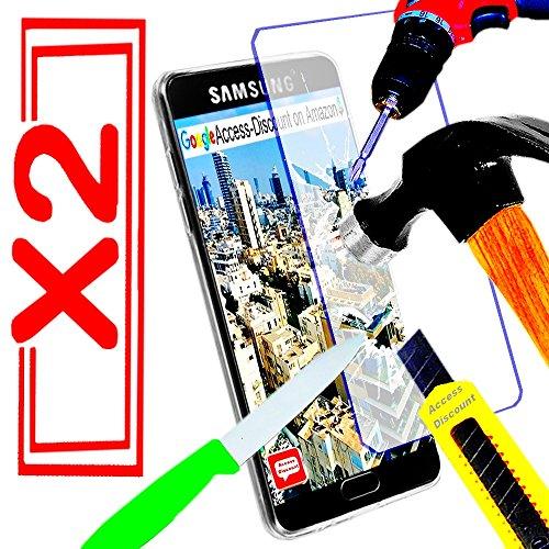 *** INCASSABLE X2 *** 2 FILM PROTECTION Ecran en VERRE Trempé pour SAMSUNG GALAXY A3 2016 filtre protecteur d'écran INVISIBLE & INRAYABLE vitre pour Smartphone A 3 6 SM-A310F A3 6 or duos 4G