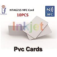 10 X NFC PVC Cartes Jet d'encre avec Puce NFC NTAG215 Compatibles avec Les Imprimantes Jet d'encre Epson et Canon, Carte…
