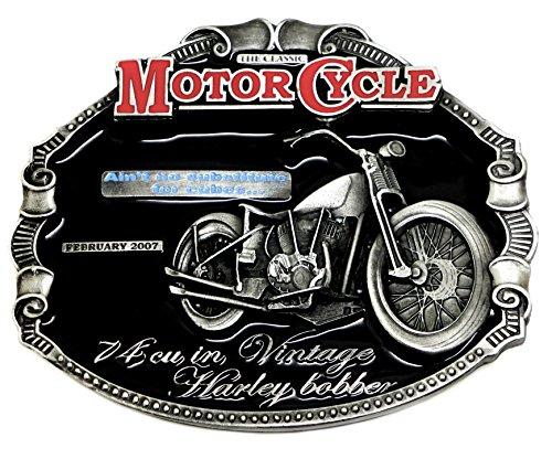 Harley Davidson Belt Buckle - Vintage Harley Bobber Design - Official Authentic Dragon Design Brand Product License