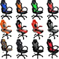 Office Desk Chair for Gaming, Working, Racing Design Swivel, Recliner, High Back, Tilt, Rocking Function MODEL & COLOUR CHOICE - cheap UK light store.